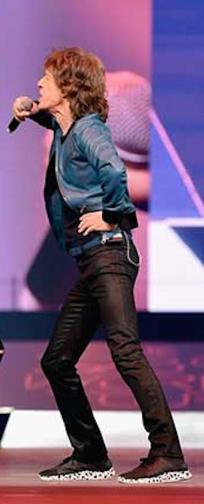 Mick Jagger posture